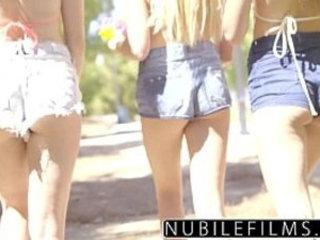 NubileFilms Playful Coeds Have Intense Lesbian Threesome