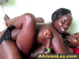 Lesbian amateur sluts ebony strap on fucking