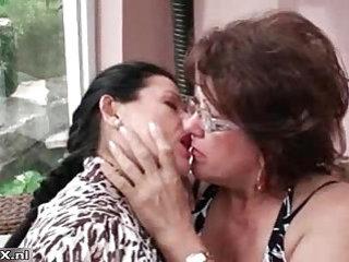 Hot busty mature lesbians getting