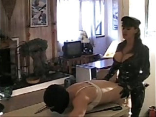 Mistress fuck her sissy slave