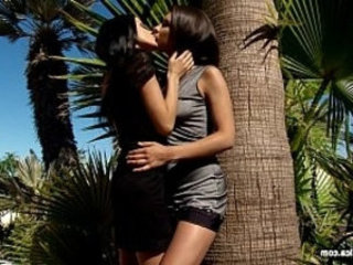 Outdoor Bliss by Sapphic Erotica sensual lesbian sex scene action with Henessy and An